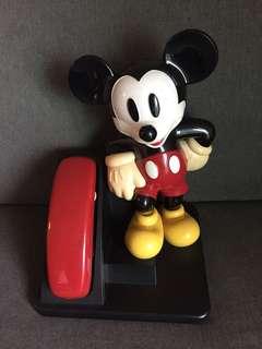 懷舊珍妮 1980年代 Disney 正版米奇電話 日本買回來 35cm高 $480