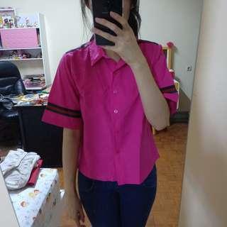 Baju kerja Pink fuschia