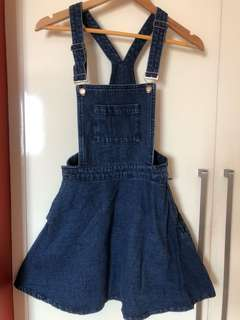 TOPSHOP skirt dungarees with pockets
