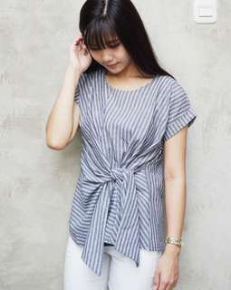 #mausupreme TIED BLOUSE