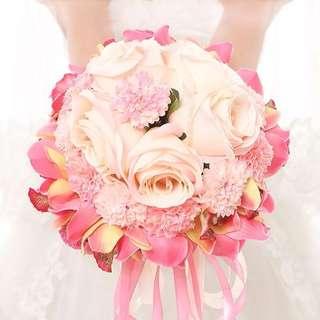 Wedding bridal Bouquet - Sweet Surrender love pink flower