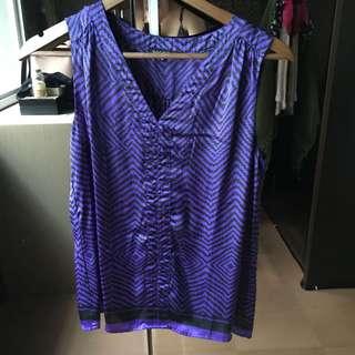 #MauSupreme Satin Purple Blouse