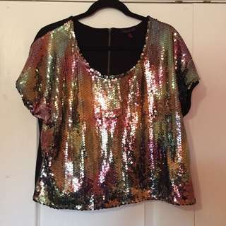 Material Girl Sequin Top - Size XL