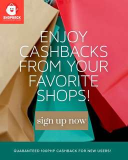 Get cashbacks as you shop!