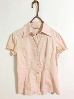 🚚 面試季出清 僅穿過1次 NET粉色短袖襯衫 4號 $150