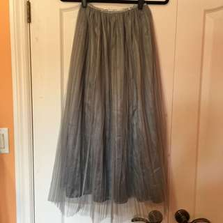 Grey tulle skirt - Size M-XL
