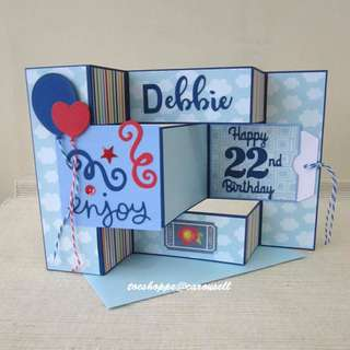 Blue Birthday Display Card