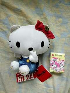 (有冇人真系想要?)日本限定Hello Kitty X Edwin 中公仔現貨一隻