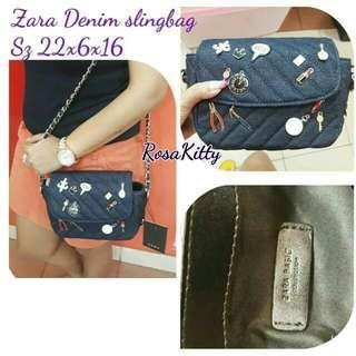 Zara denim crossbody