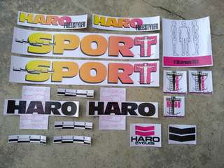 Haro Sport Decal set