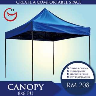 Canopy High Quality'8x8' PU Night Bazaar Street Hawker Portable Outdoor Tent Khemah
