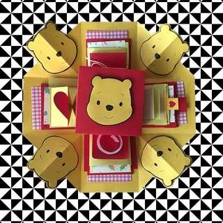 現貨供應 24H出貨❤️手作卡片禮物盒 9個機關 小熊維尼