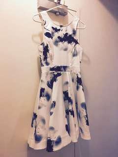 White Floral Dress Size 6