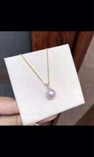 100%天然淡水珍珠8-9mm akoya 珍珠吊咀