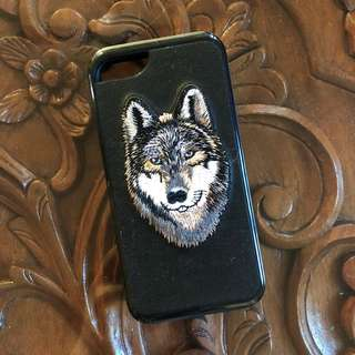 *Free Shipping within MM* iPhone 7 Embroidered Wolf Case