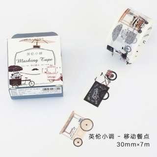 Washi Tape (Vintage Food Truck) (Ref No.: 288) / Sample 50cm