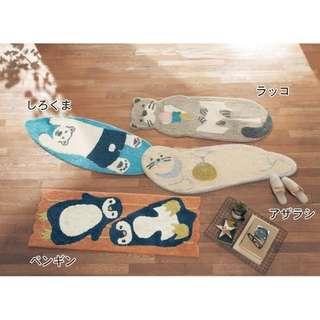 日本 可愛海洋動物系列 地墊 45*120 共4款