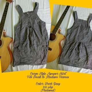 Cargo Style Jumper Skirt