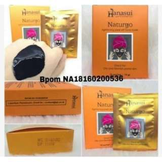 (1BOX)masker lumpur naturgo hanasui original