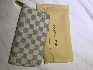 Authentic Louis Vuitton Long Zippy Wallet- Damier Azur