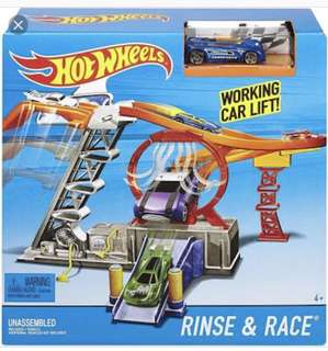 Hot wheels rinse and race