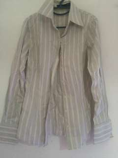 White and green stripe shirt #ramadan50