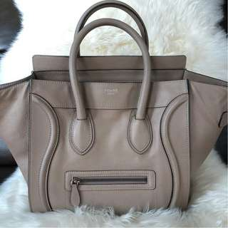 Celine Mini Luggage in Dune Grained Leather