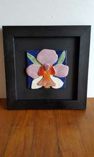 Orchid tile artwork