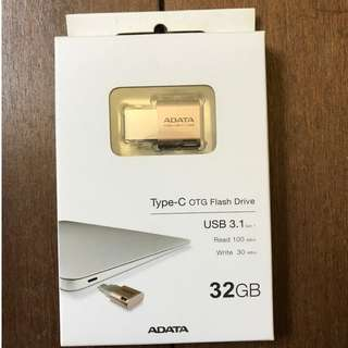 Type-C OTG Flash Drive 32GB for Newer versions of Mac