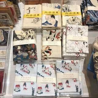 日本代購|大阪國立美術館北齋搞笑漫畫展覽手巾