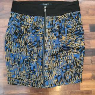 Forever 21 blue and gold mini