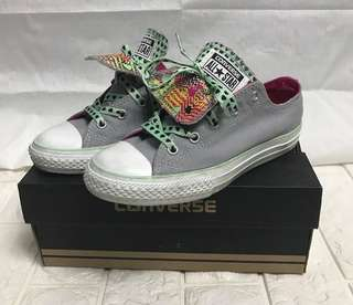 Authentic Converse Chuck Taylor Double Tongue Kids Sneakers 34 35