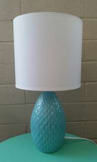 White and mint lamp