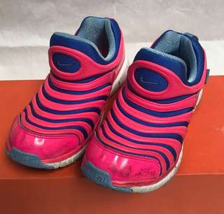 Nike Free Kids Rubber Shoes Sneakers 34 35 Pink Blue