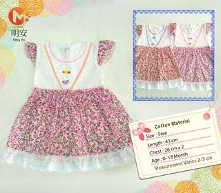 Cute & Pretty Baby Dress Sleeved Rose Series