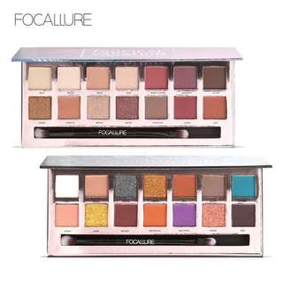 🦋FOCALLURE 14Colors Eyeshadow Palette Matte Glitter Shimmer Palette with Brush🦋