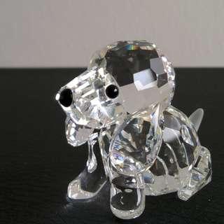 49 Swarovski Silver Crystal - Beagle, Sitting (Signed)