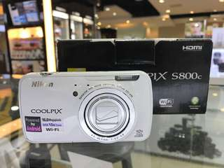 Nikon Coolpix S800C WiFi Digital Camera