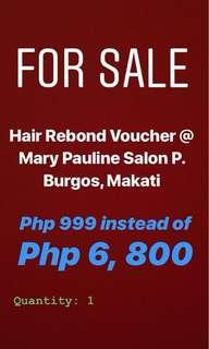 Hair Rebond Voucher