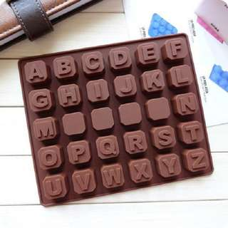Cetakan Silikon Abjad Pudding Coklat Es Jelly Silicone