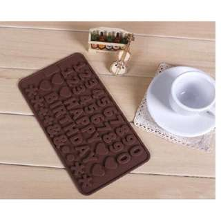 Cetakan Silikon Happy Birthday Angka Coklat Silicone Number