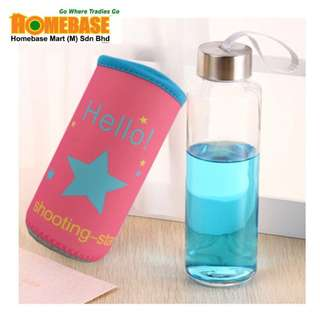 HOMEbase Korea Imported Eco Glass Bottle, leak proof tumbler, Multipurpose Bottle (tb3L-7)