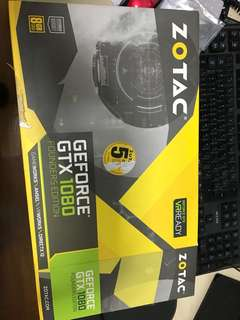 Nvidia GTX 1080 founder's edition 8go