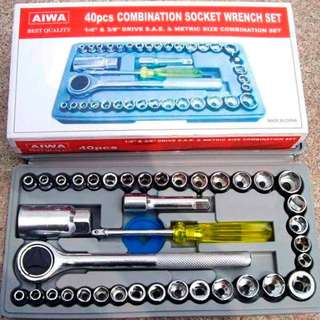 AIWA 40 pcs. Combination Socket Wrench Set