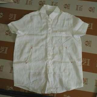 韓ricco棉麻寬鬆襯衫