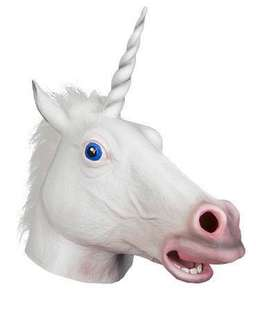 Latex Unicorn Mask