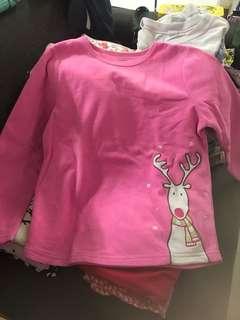 Carter's fleece long sleeves pink 6y