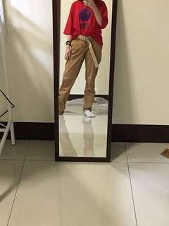 七分袖紅色上衣#五十元好物