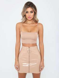 Nude/Tan PVC Skirt