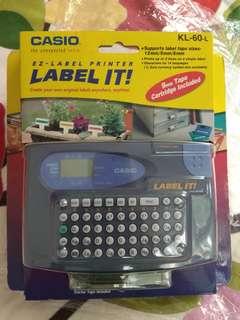 CASIO Label 打印機 KL-60-L